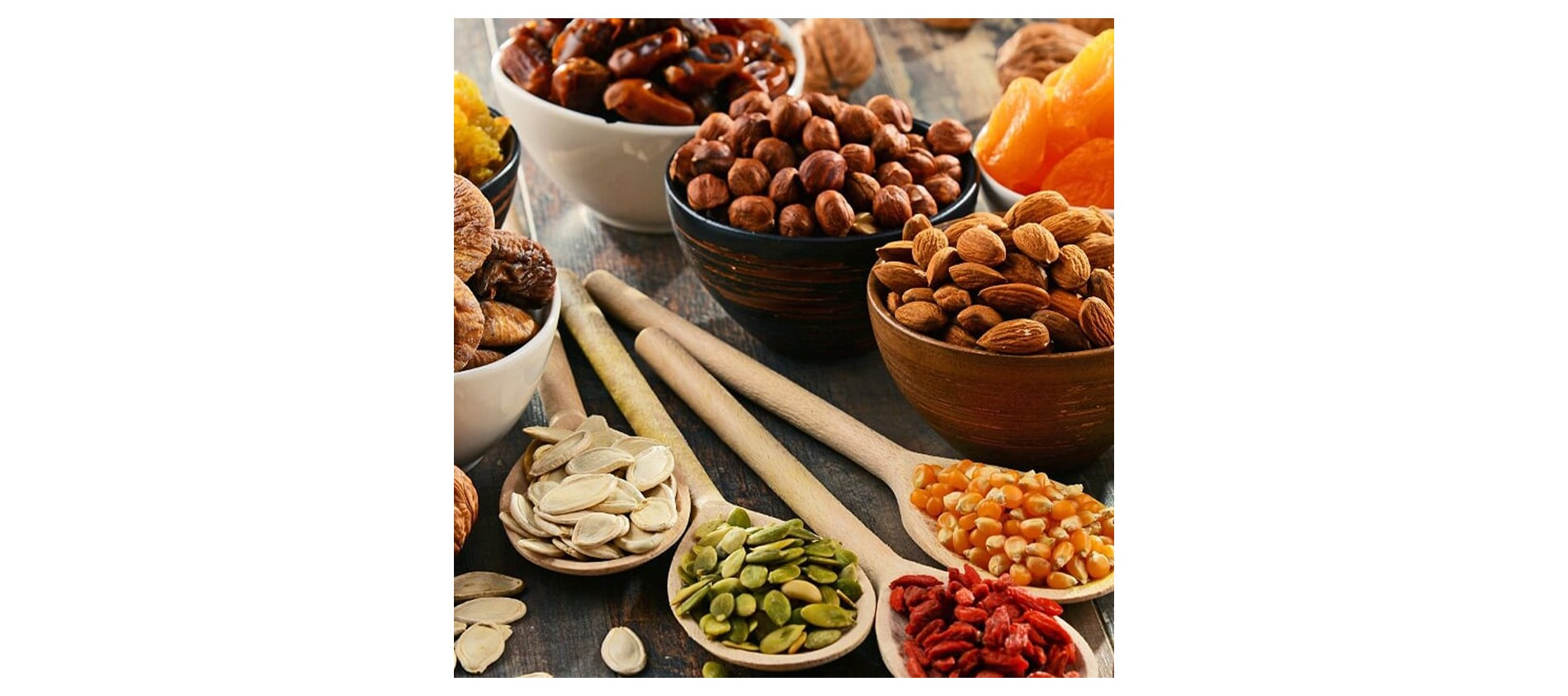 Fruits secs, à coques et graines